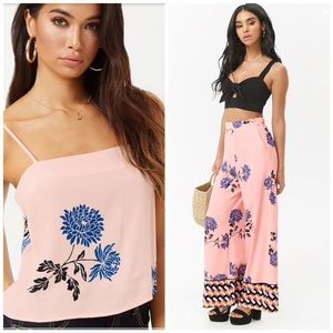 Floral Geo Top and Bottom Set